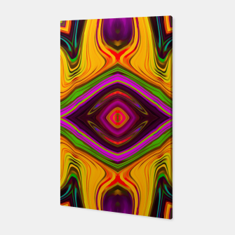 Miniatur vintage symmetry art abstract pattern graffiti in pink purple yellow green red symmetry art  Canvas, Live Heroes