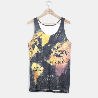 Thumbnail image of world map black and yellow Tank Top, Live Heroes
