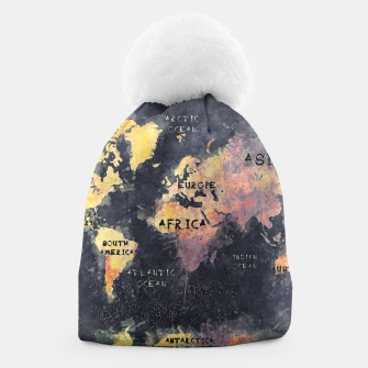 Thumbnail image of world map black and yellow Czapka, Live Heroes