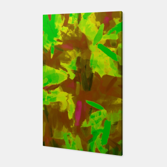 Miniatur green yellow brown camouflage painting texture abstract background Canvas, Live Heroes