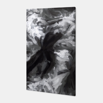 Miniatur black and white camouflage abstract painting texture background Canvas, Live Heroes