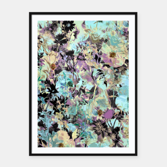 Thumbnail image of Bloom Floral Camouflage  Framed poster, Live Heroes