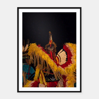 Thumbnail image of Dancing Feathers Framed poster, Live Heroes
