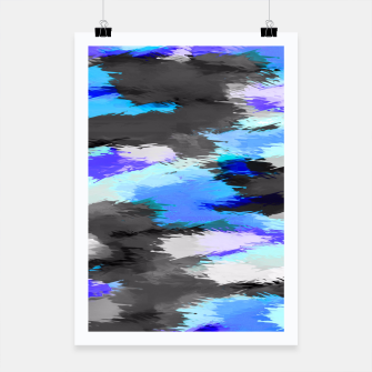 Thumbnail image of purple blue and black painting texture abstract background Poster, Live Heroes