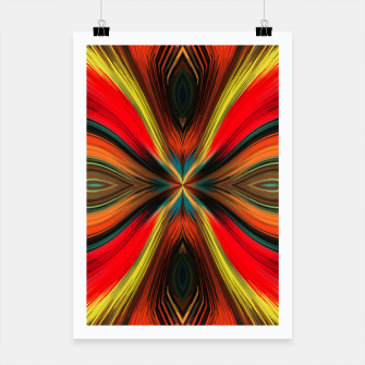 Thumbnail image of psychedelic geometric graffiti painting abstract in green red brown and yellow Poster, Live Heroes