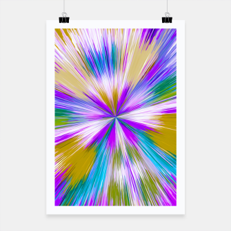 Thumbnail image of psychedelic geometric abstract pattern in purple blue and brown Poster, Live Heroes