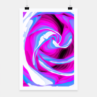 Thumbnail image of pink and blue closeup rose texture background Poster, Live Heroes