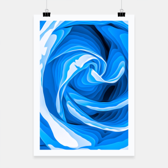 Thumbnail image of closeup blue rose texture abstract background Poster, Live Heroes