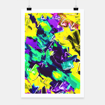 Thumbnail image of yellow green pink purple graffiti painting texture background Poster, Live Heroes