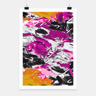 Thumbnail image of purple pink yellow brown black graffiti painting texture abstract background Poster, Live Heroes