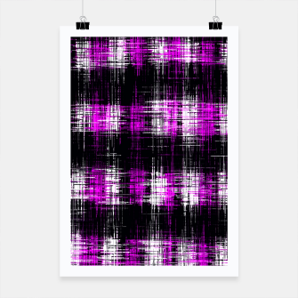 Thumbnail image of geometric graffiti in purple and black painting texture abstract background Poster, Live Heroes