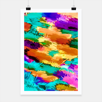 Thumbnail image of graffiti in pink purple green yellow brown painting texture abstract background Poster, Live Heroes