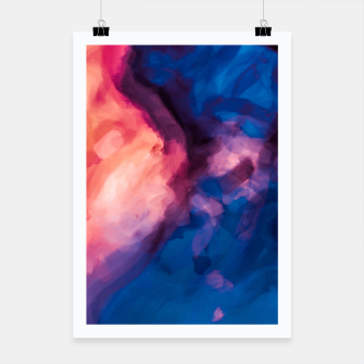 Thumbnail image of graffiti in red purple and blue painting texture abstract background Poster, Live Heroes
