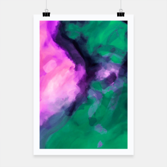 Thumbnail image of graffiti in pink and green painting texture abstract background Poster, Live Heroes