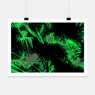 Thumbnail image of green palm leaves texture abstract background Poster, Live Heroes