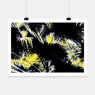 Thumbnail image of black and white palm leaves with yellow background Poster, Live Heroes