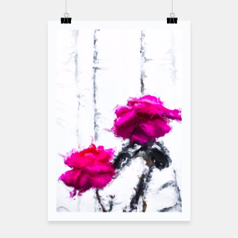 Thumbnail image of red roses with white wood background Poster, Live Heroes