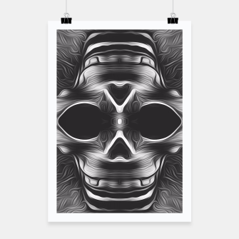 Thumbnail image of black and white skull Poster, Live Heroes