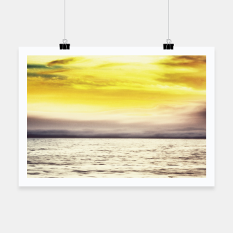 Thumbnail image of cloudy sunset sky with ocean view Poster, Live Heroes