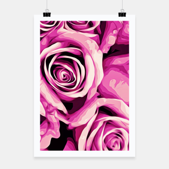 Thumbnail image of pink roses abstract background Poster, Live Heroes