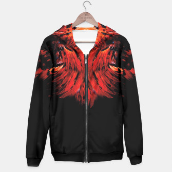 Miniatur red feathered Hoodie, Live Heroes