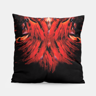 Miniatur red feathered Pillow, Live Heroes