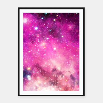 Pink Space Framed poster obraz miniatury