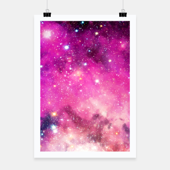 Pink Space Poster obraz miniatury