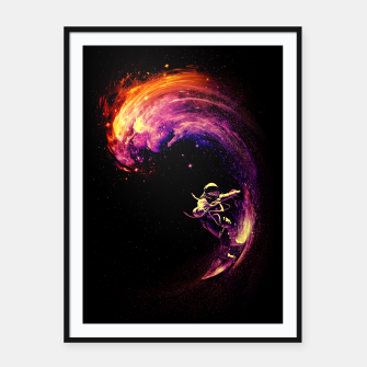 Thumbnail image of Space Surfing Framed poster, Live Heroes