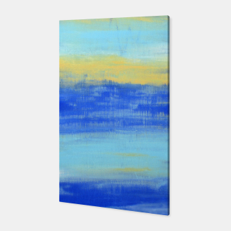 Thumbnail image of Life is Better at the Beach - Blue, Yellow, Turquoise - ABSTRACT ART - Canvas, Live Heroes