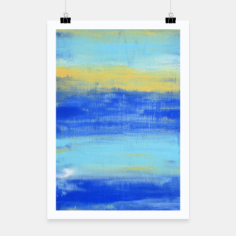 Thumbnail image of Life is Better at the Beach - Blue, Yellow, Turquoise - ABSTRACT ART - Poster, Live Heroes