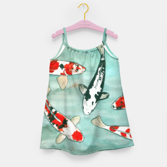 Thumbnail image of Koi pond Girl's Dress, Live Heroes