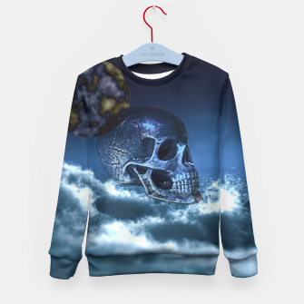 Thumbnail image of Skull and Moon Kid's Sweater, Live Heroes