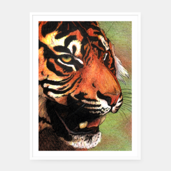 Thumbnail image of Tiger mouth Framed poster, Live Heroes