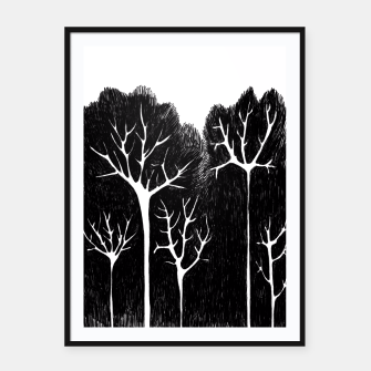Thumbnail image of Trees Framed poster, Live Heroes