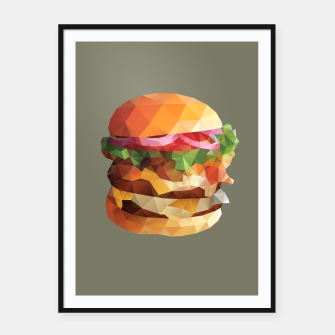 Thumbnail image of Gourmet Burger Polygon Art Framed poster, Live Heroes