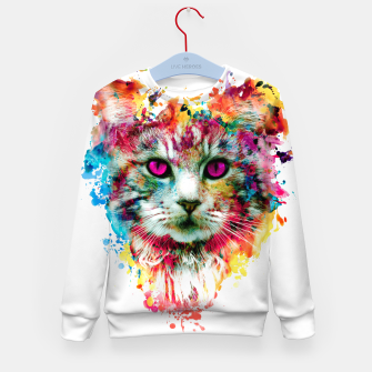 Thumbnail image of cat II Kid's Sweater, Live Heroes