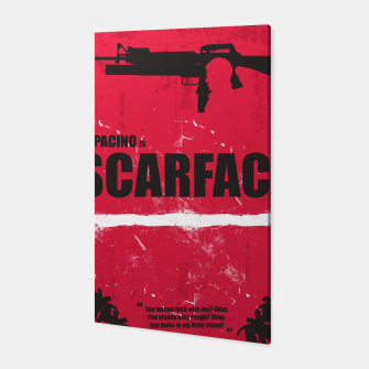 Thumbnail image of Scarface - Minimal Alternative Movie Poster Canvas, Live Heroes
