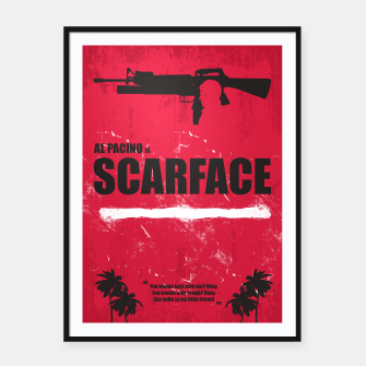 Thumbnail image of Scarface - Minimal Alternative Movie Poster Framed poster, Live Heroes