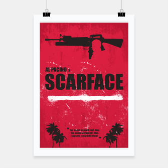 Thumbnail image of Scarface - Minimal Alternative Movie Poster Poster, Live Heroes