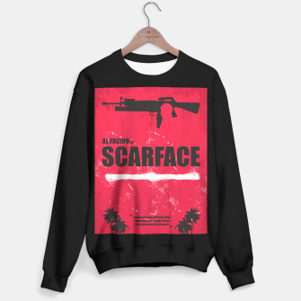 Thumbnail image of Scarface - Minimal Alternative Movie Poster Sweater regular, Live Heroes