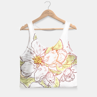 Thumbnail image of Pretty Summer Flowers Crop Top, Live Heroes