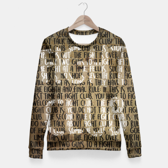 Thumbnail image of Fight Club - Rules Minimal Typo Poster Fitted Waist Sweater, Live Heroes