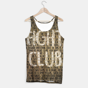 Thumbnail image of Fight Club - Rules Minimal Typo Poster Tank Top, Live Heroes