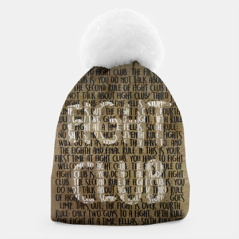 Thumbnail image of Fight Club - Rules Minimal Typo Poster Beanie, Live Heroes