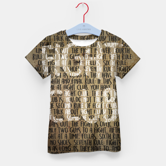 Thumbnail image of Fight Club - Rules Minimal Typo Poster Kid's T-shirt, Live Heroes