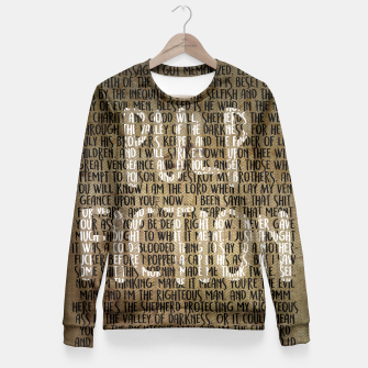 Thumbnail image of Pulp Fiction - Ezekiel 25:17 Quote Fitted Waist Sweater, Live Heroes