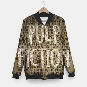Thumbnail image of Pulp Fiction - Ezekiel 25:17 Quote Baseball Jacket, Live Heroes