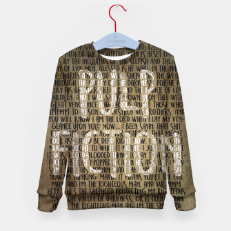 Thumbnail image of Pulp Fiction - Ezekiel 25:17 Quote Kid's Sweater, Live Heroes