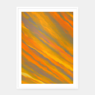 Canary Yellow White Framed poster thumbnail image